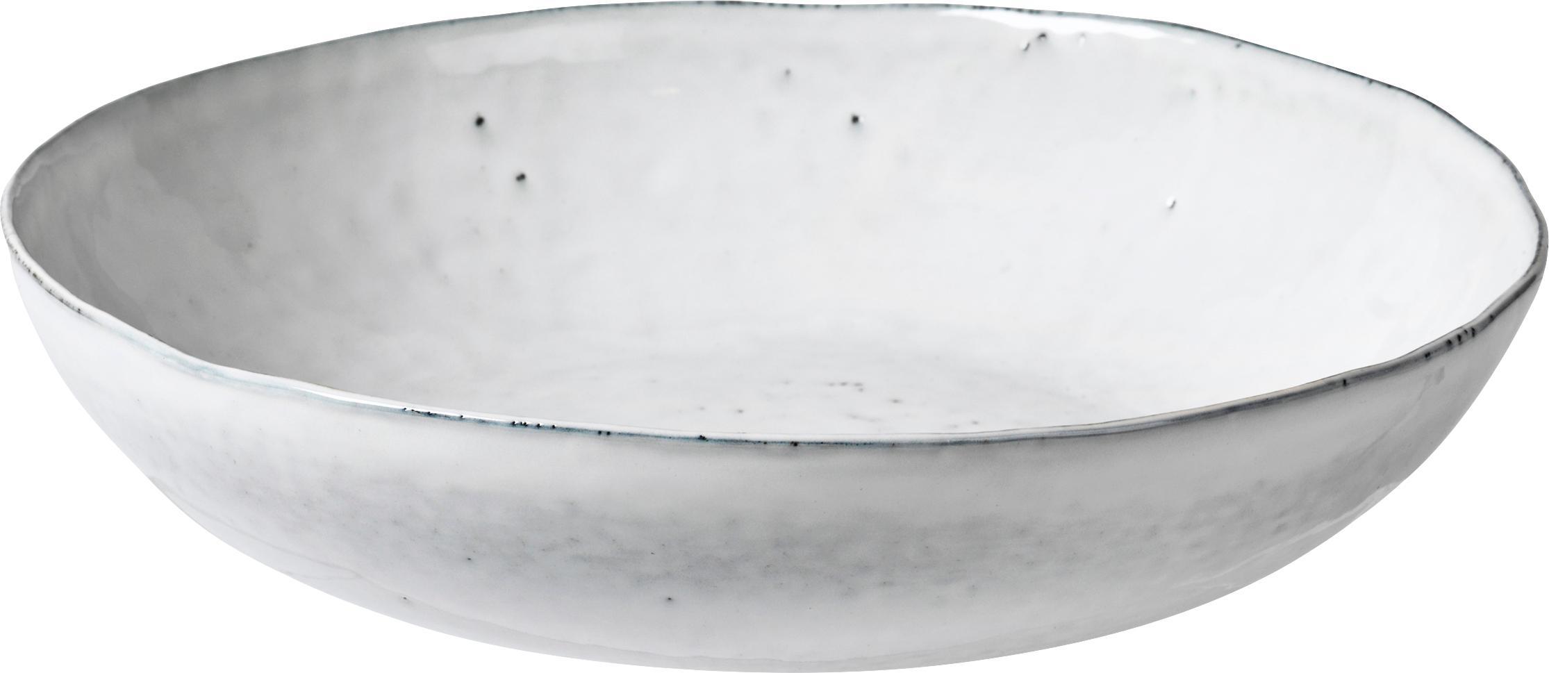 Handgemachte Servierschale Nordic Sand Ø 34 cm aus Steingut, Steingut, Sand, Ø 34 x H 8 cm
