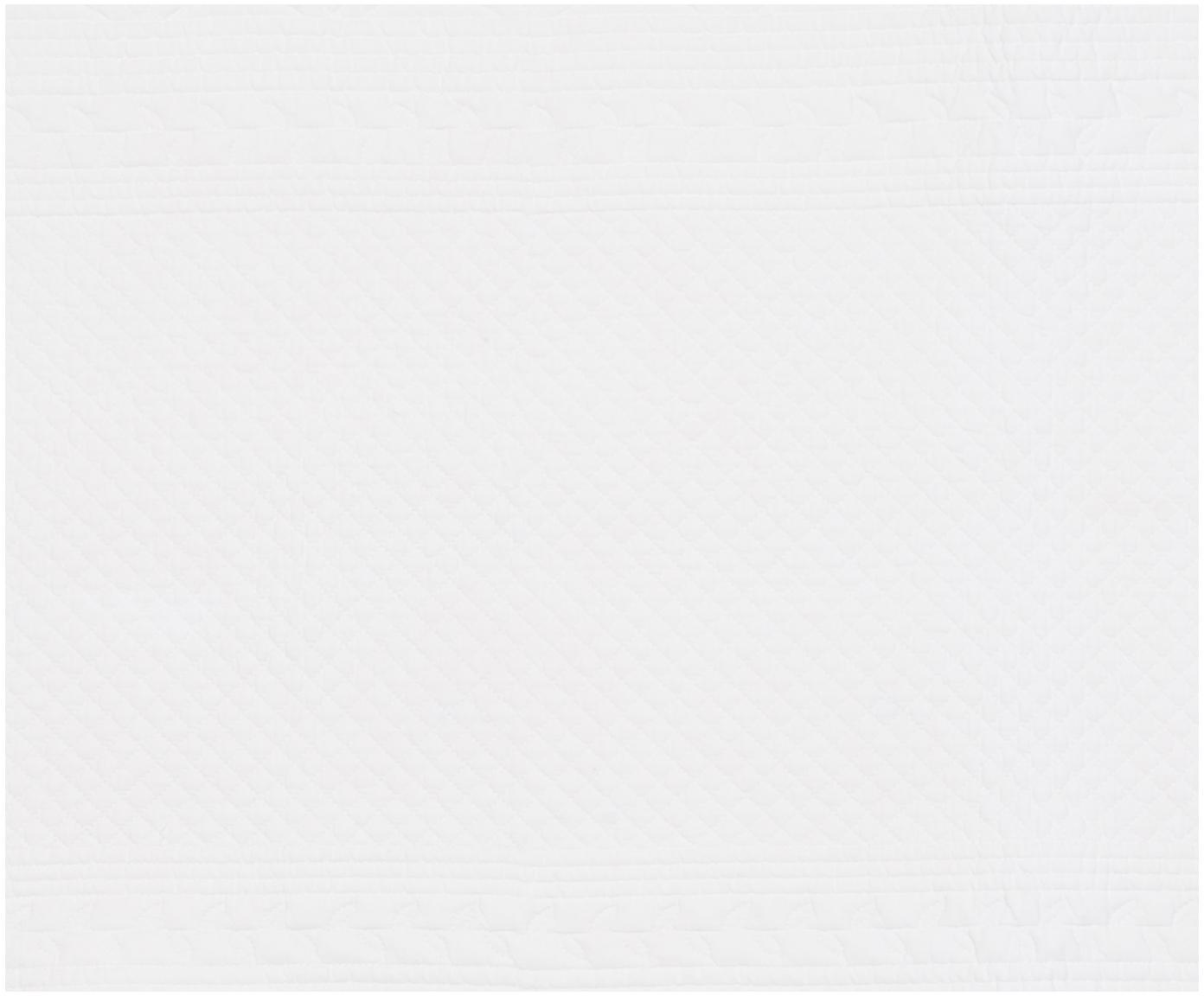 Runner da tavolo Boutis, Cotone, Bianco, Larg. 50 x Lung. 150 cm