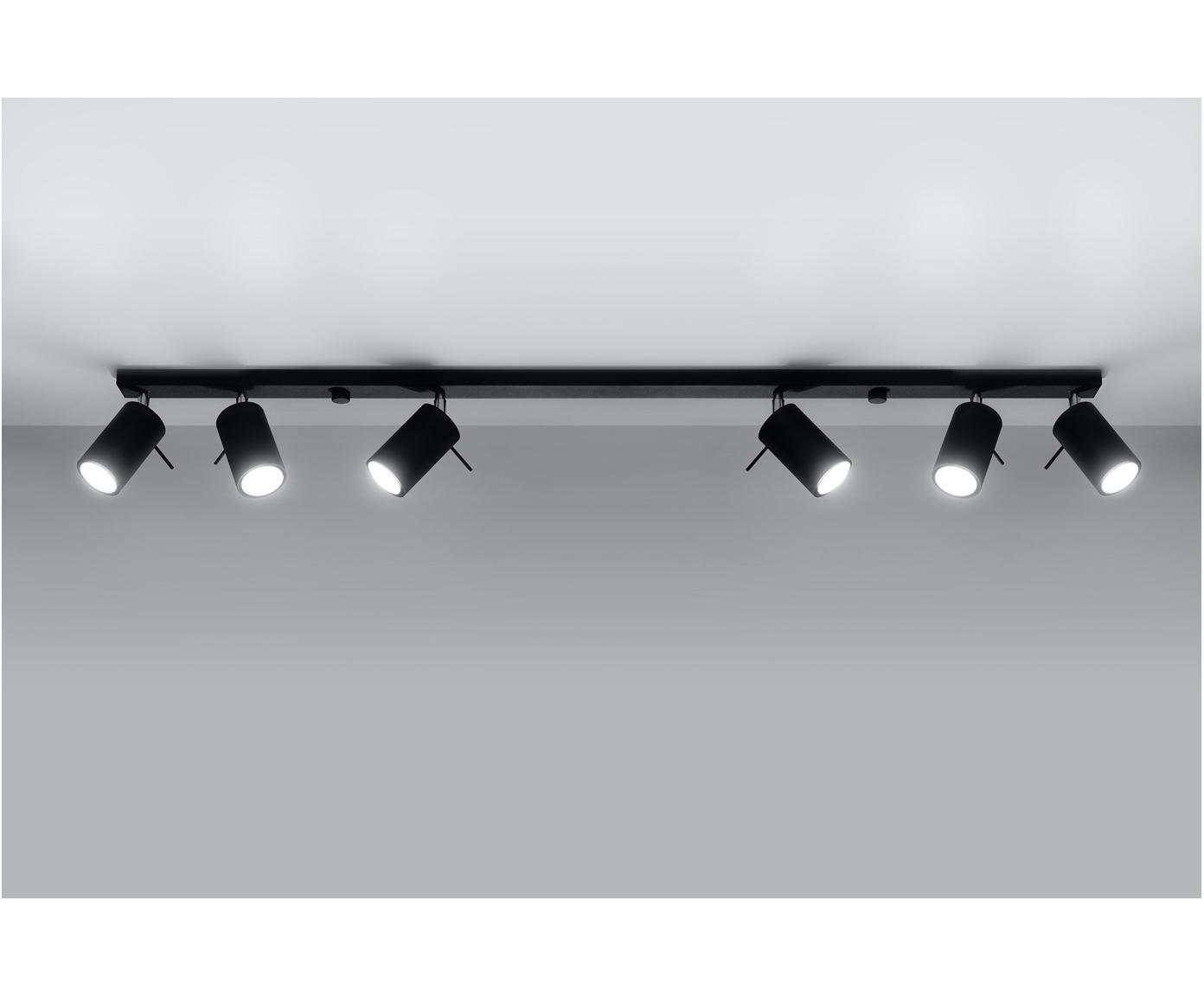Lampa sufitowa Etna, Stal, Czarny, 117 x 16 cm