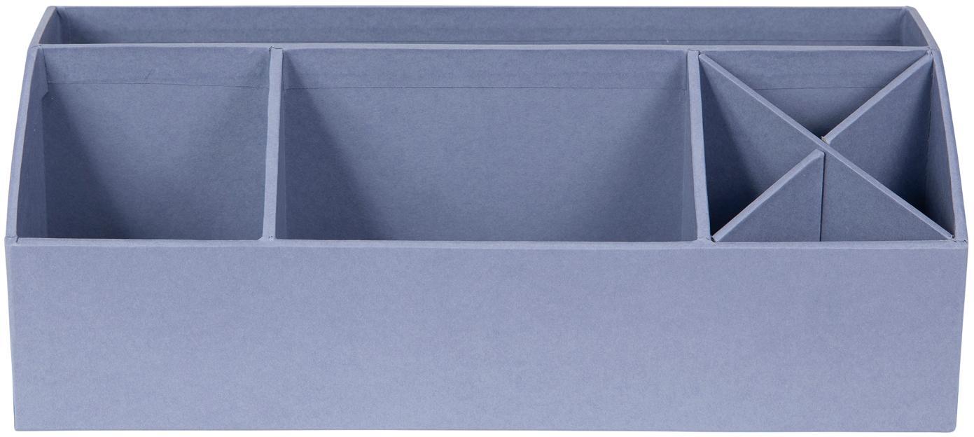 Büro-Organizer Elisa, Fester, laminierter Karton, Taubenblau, 33 x 13 cm