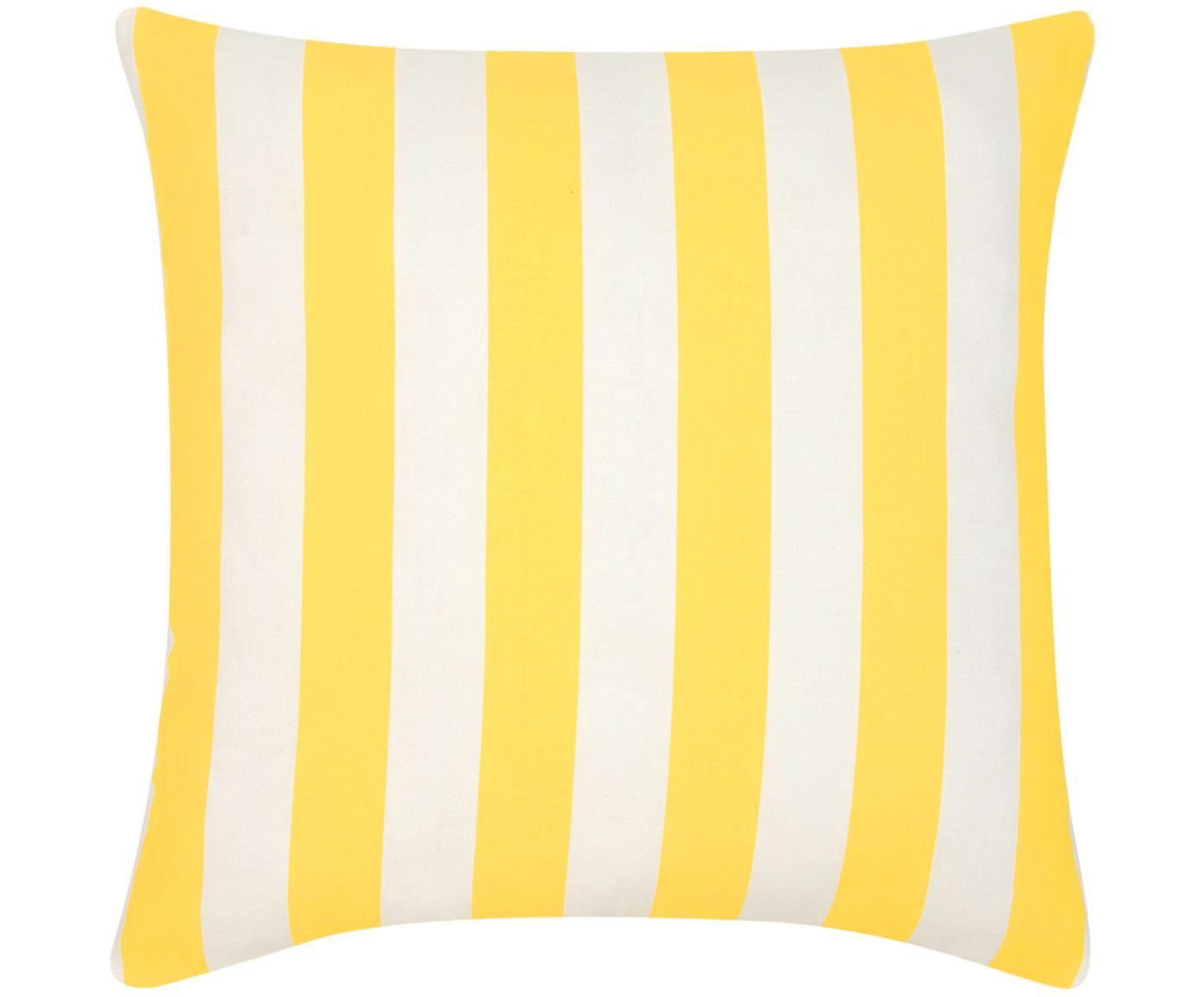 Federa arredo a righe in giallo/bianco Timon, Cotone, Giallo, bianco, Larg. 45 x Lung. 45 cm