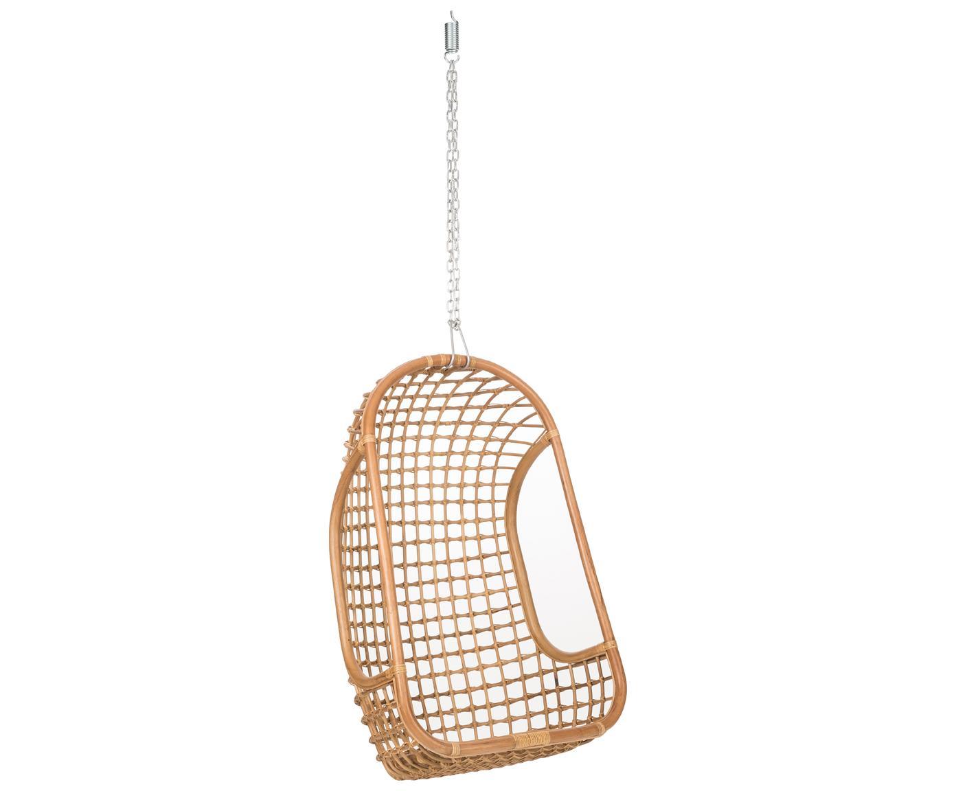 Sedia a poltrona sospesa Swing, Rattan, Larg. 72 cm x Alt. 110 cm
