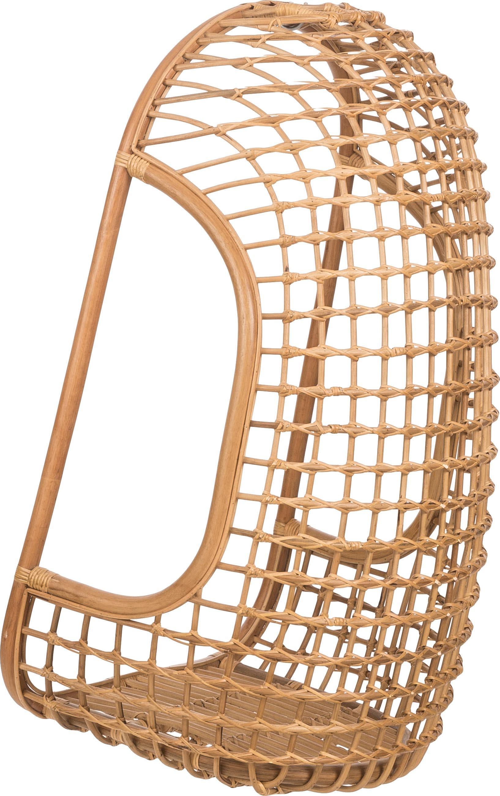 Rattan-Hängesessel Schwing, Rattan, 72 x 110 cm