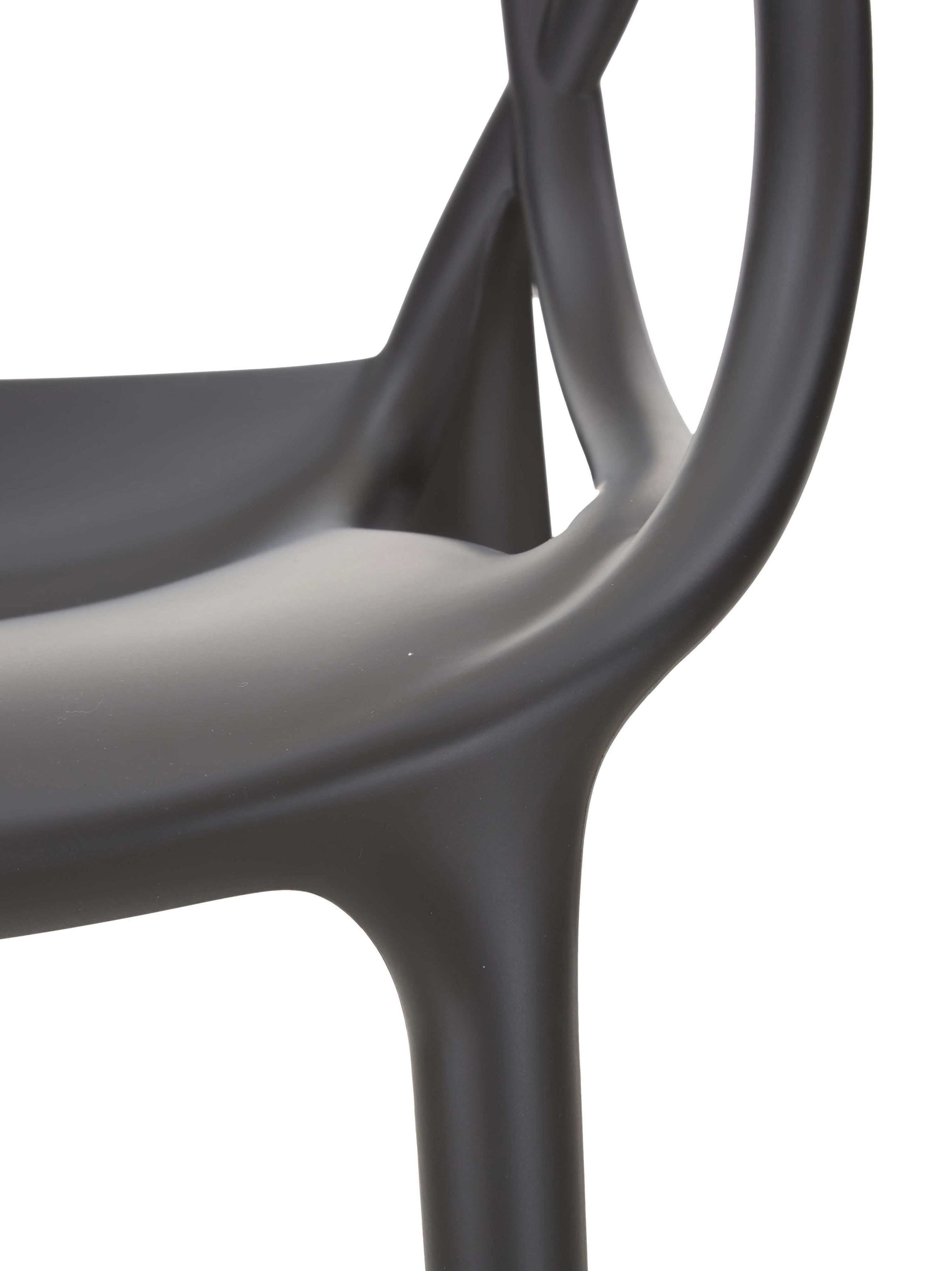 Chaises à accoudoirs, empilables Masters, 2pièces, Noir