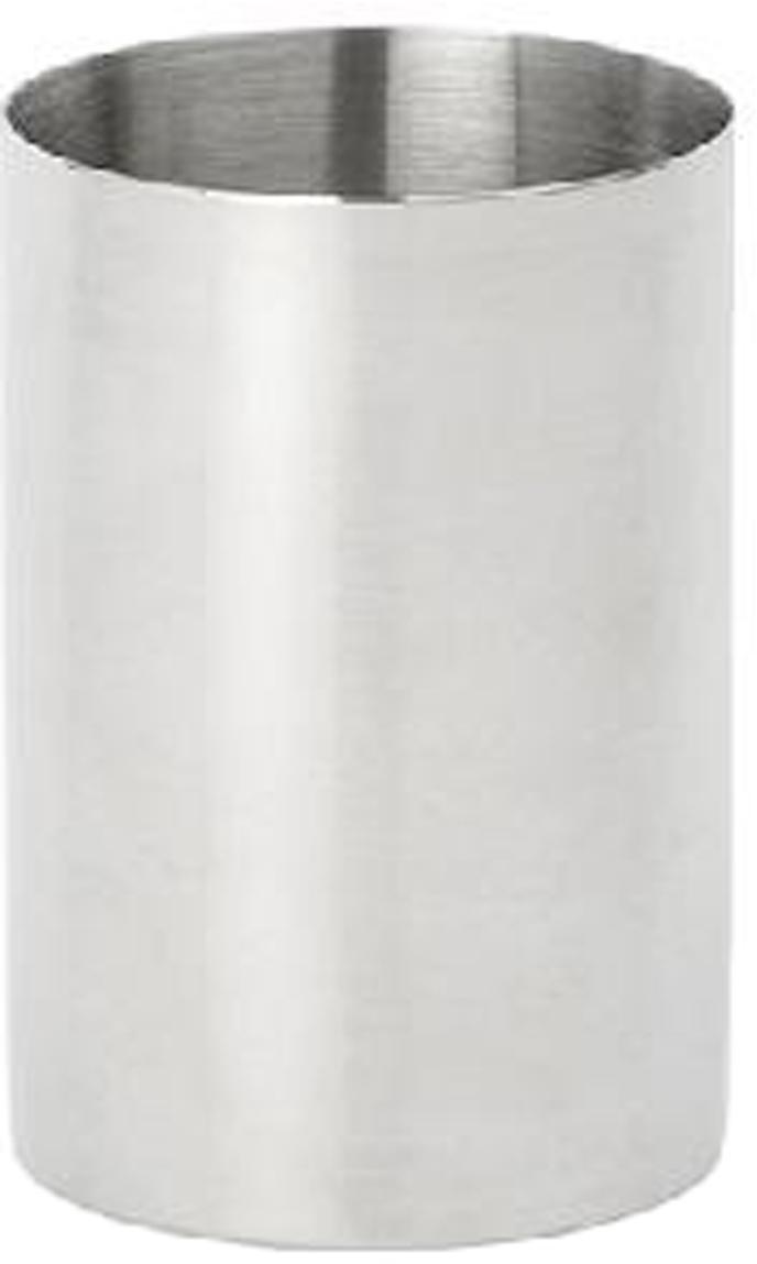 Edelstalen tandenborstelbeker Stoni, Edelstaal, Edelstaalkleurig, Ø 7 x H 10 cm