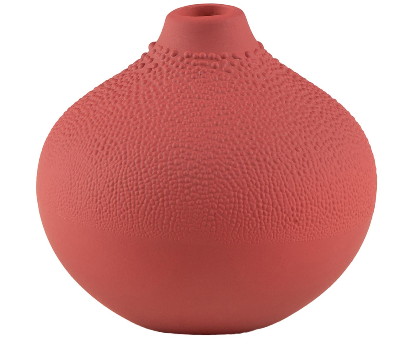XS Vase Design aus Porzellan, Porzellan, Rostrot, Ø 7 x H 7 cm