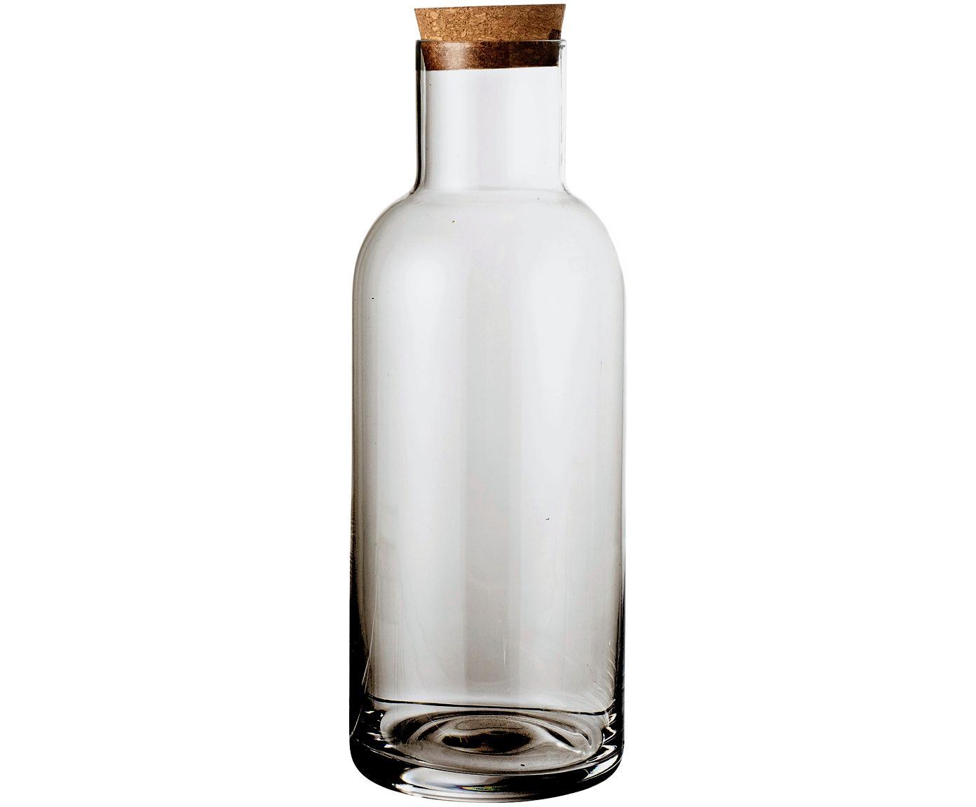 Karaf Clearance, Deksel: kurk, Grijs, transparant, 1 L