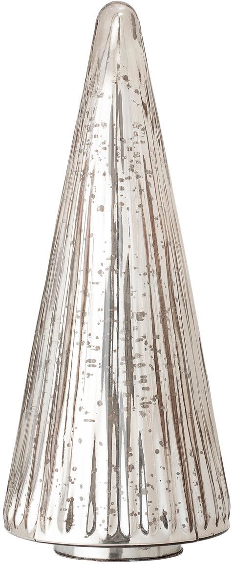 Pieza decorativa Silver Tree, Vidrio, Plateado, Ø 15 x Al 36 cm