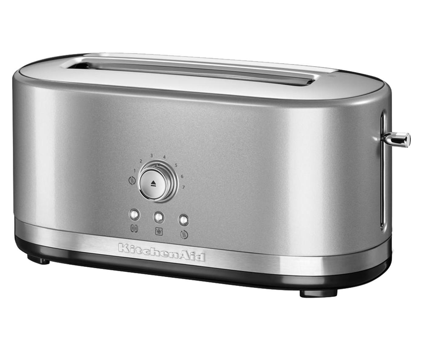 Langschlitz-Toaster KitchenAid, Gehäuse: Aluminiumdruckguss, Edels, Silbergrau, 42 x 20 cm