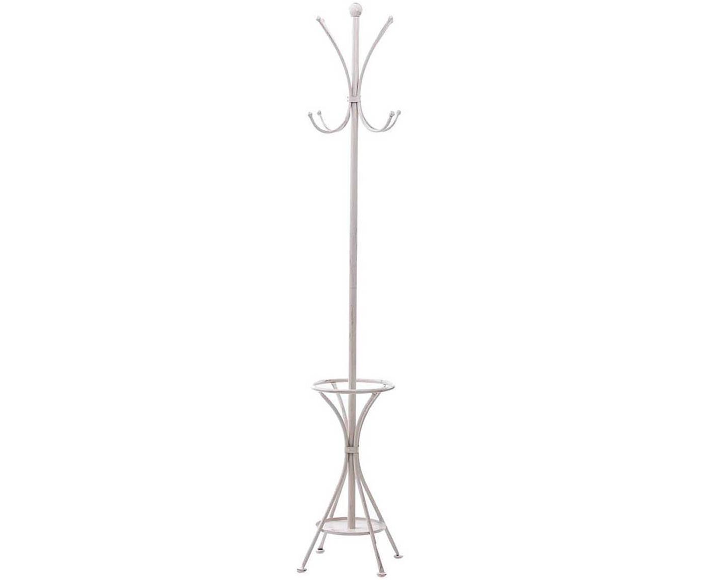Perchero Andali, Metal, Blanco, Ø 29 x Al 174 cm