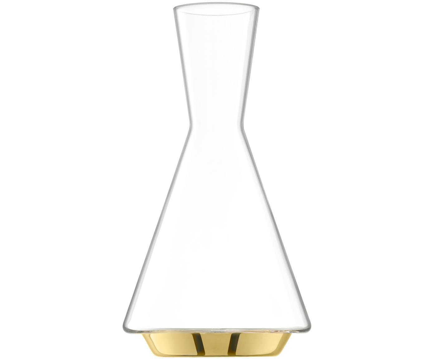 Karafka ze szkła dmuchanego Space, Szkło, Transparentny, odcienie złotego, 1,6 l