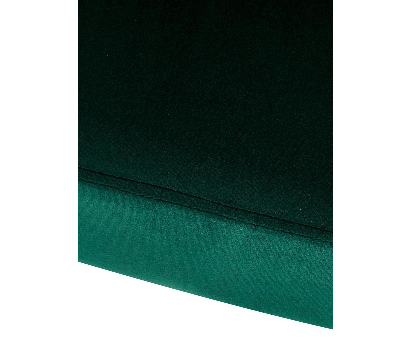 Samt-Cocktailsessel Helle, Bezug: Samt (Polyester) 30.000 S, Füße: Metall, pulverbeschichtet, Samt Dunkelgrün, 65 x 84 cm