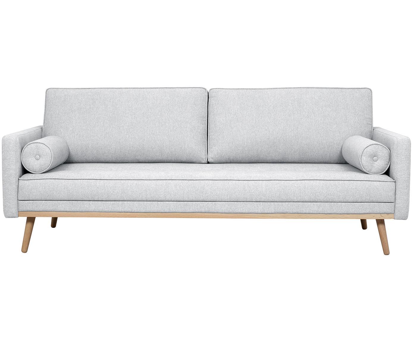 Sofa Saint (3-Sitzer), Bezug: Polyester 50.000 Scheuert, Gestell: Massives Kiefernholz, Spa, Webstoff Hellgrau, 210 x 70 cm