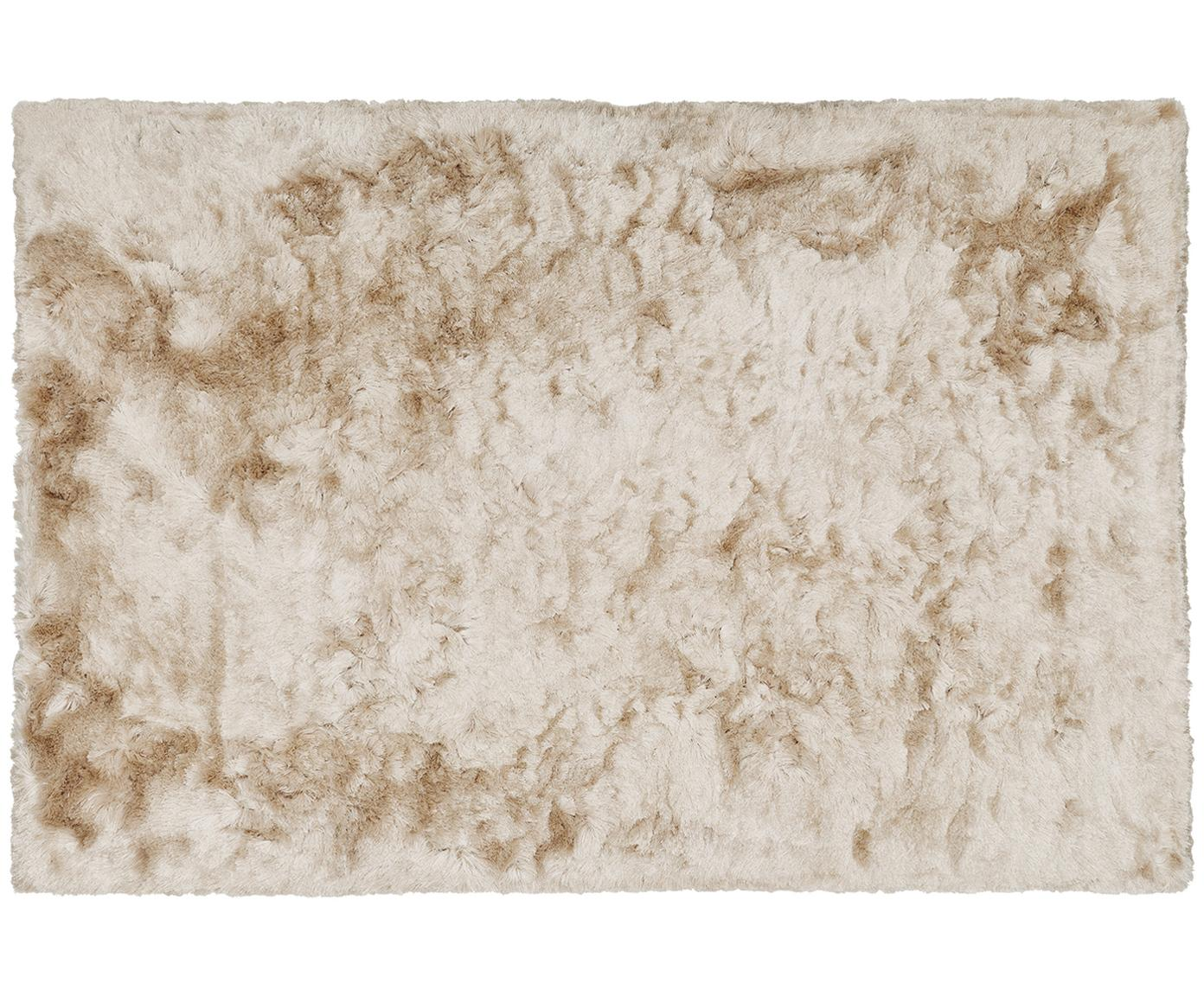Alfombra artesanal de pelo largo Jimmy, Parte superior: 100%poliéster, Reverso: 100%algodón, Marfil, An 120 x L 180 cm (Tamaño S)