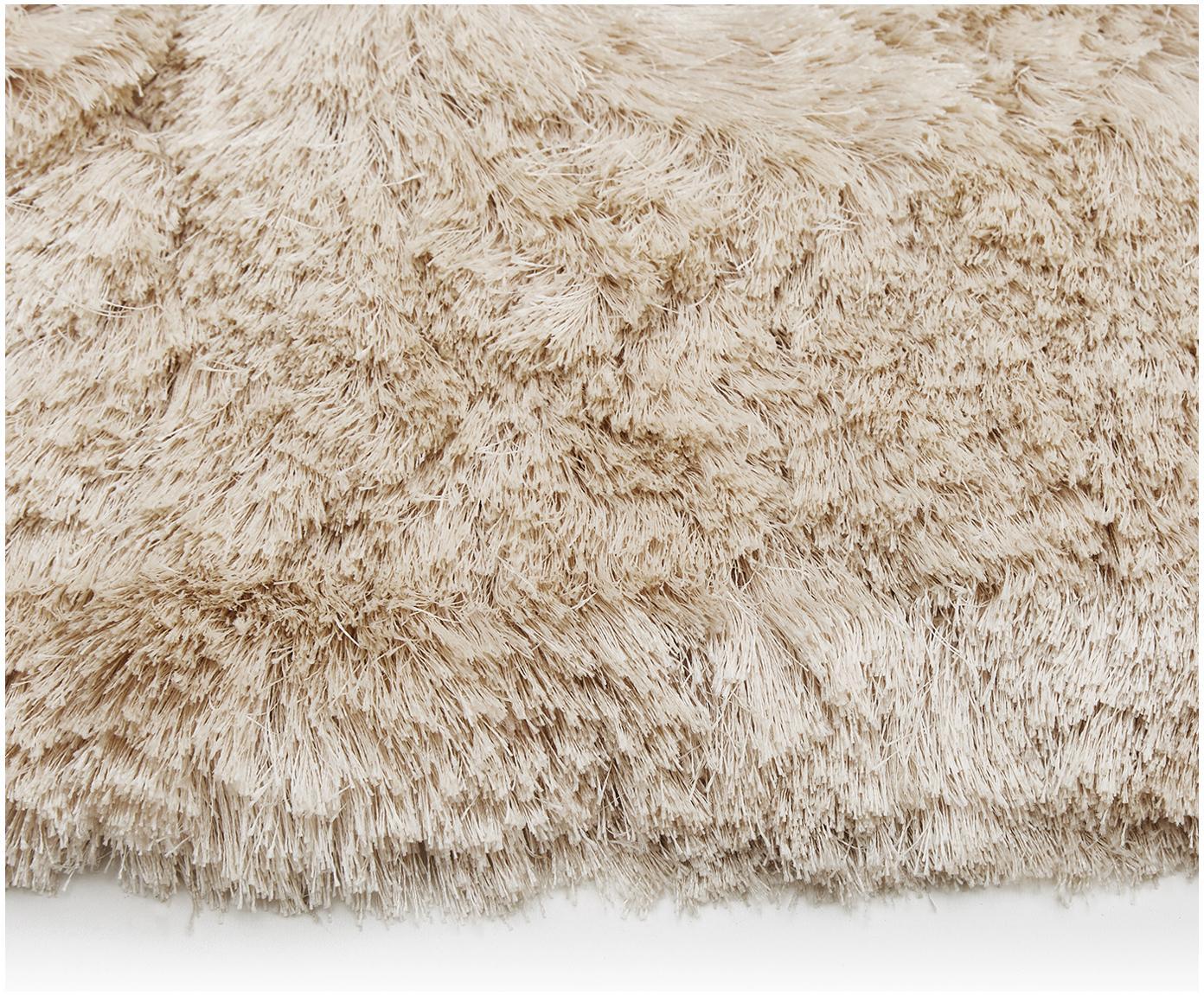 Handgetuft vloerkleed Jimmy, Bovenzijde: 100% polyester, Onderzijde: 100% katoen, Ivoorkleurig, 160 x 230 cm