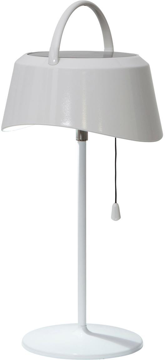 Mobile LED Solar-Aussenleuchte Cervia, Kunststoff, Weiss, 18 x 36 cm