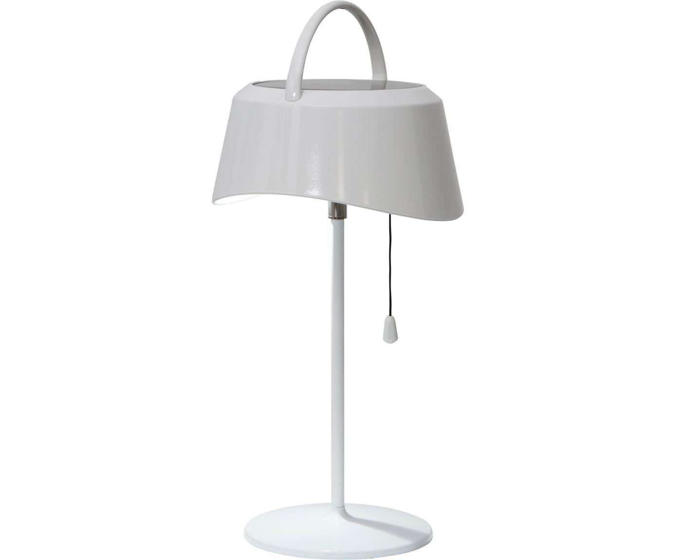 Mobile LED Solar-Außenleuchte Cervia, Kunststoff, Weiß, 18 x 36 cm