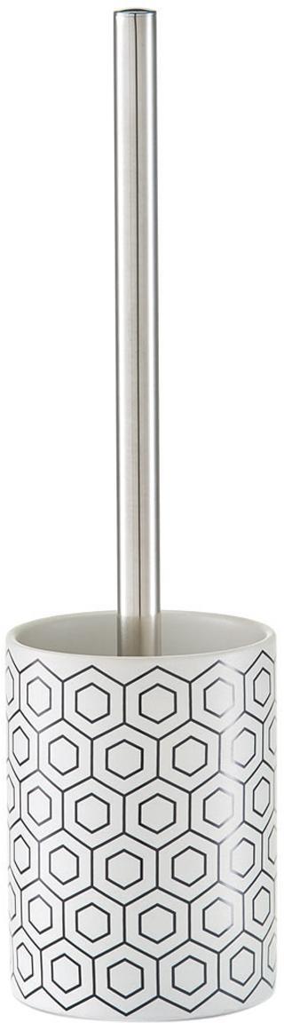 Escobilla de baño Graphic, Negro, blanco, Ø 10 x Al 35 cm