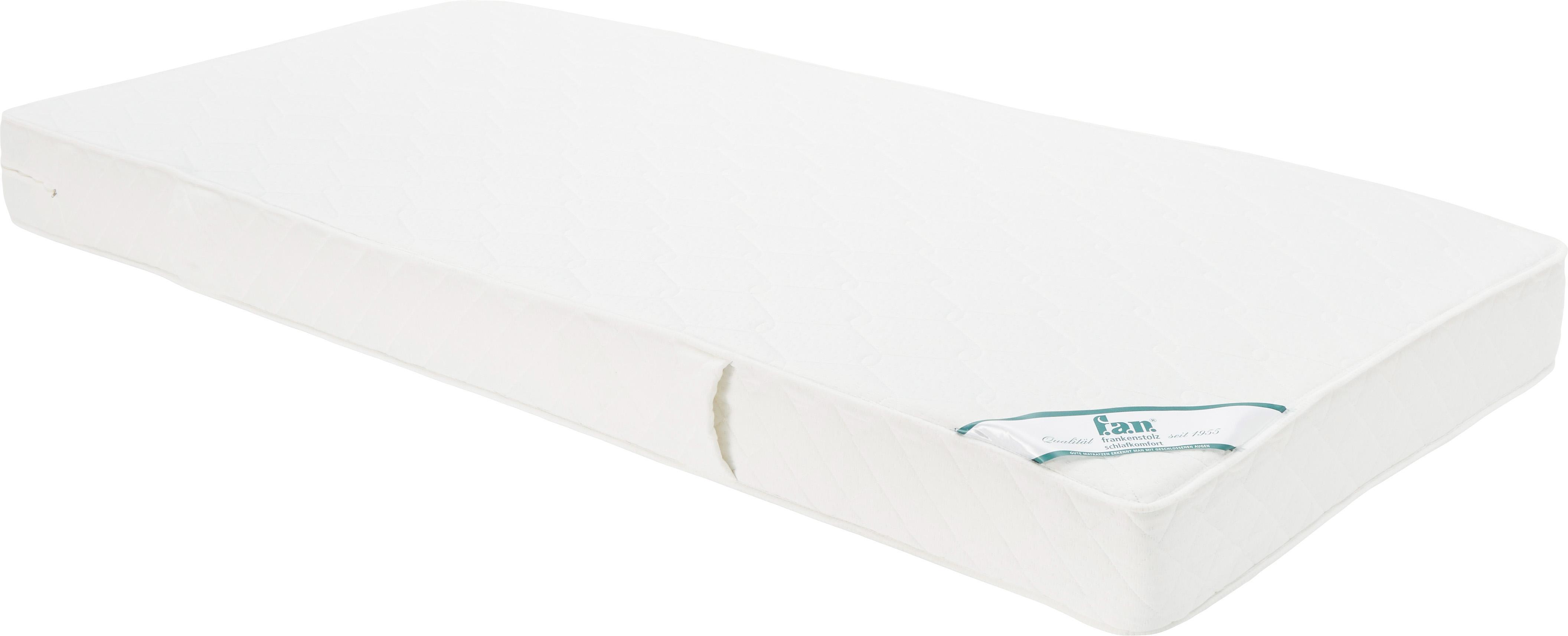 Tonnentaschenfederkern-Matratze Happy, Bezug: Doppeljersey (100% Polyes, Oberseite: ca. 200 g/m² klimaregulie, Unterseite: ca. 200 g/m² klimaregulie, Weiß, 90 x 200 cm