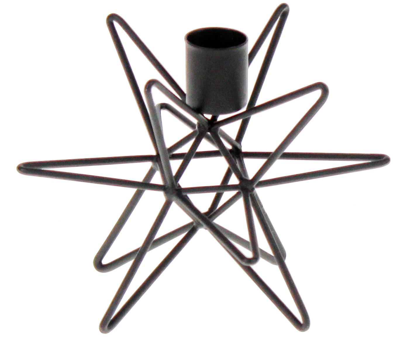 Candelabro Cosma, Metal pintado, Negro, Ø 19 x Al 12 cm