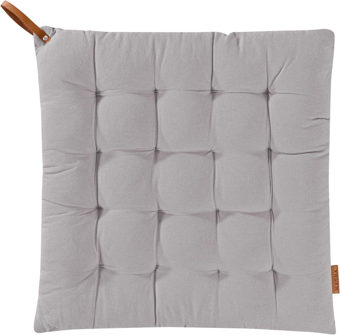 Cuscino sedia Billie, Cotone, Grigio, Larg. 40 x Lung. 40 cm