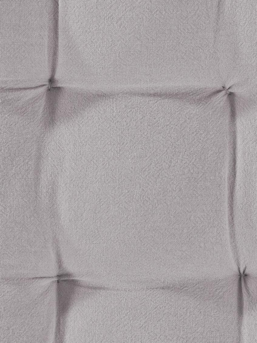 Sitzkissen Billie, 100% Baumwolle, Grau, 40 x 40 cm