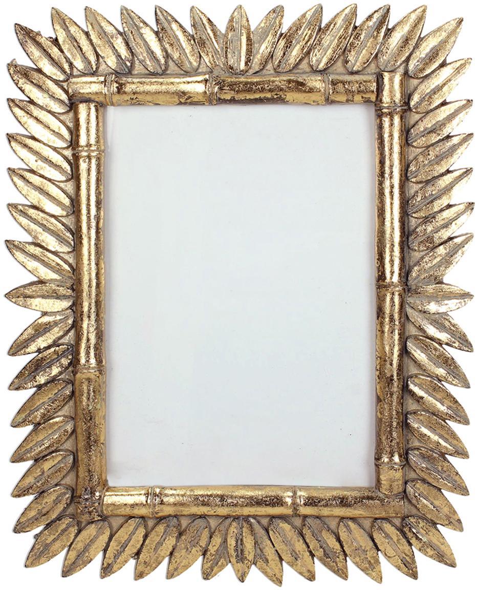 Cornice vintage dorata Sun, Cornice: poliresina, Retro: Pannelli di fibra a media, Ottonato, 13 x 18 cm