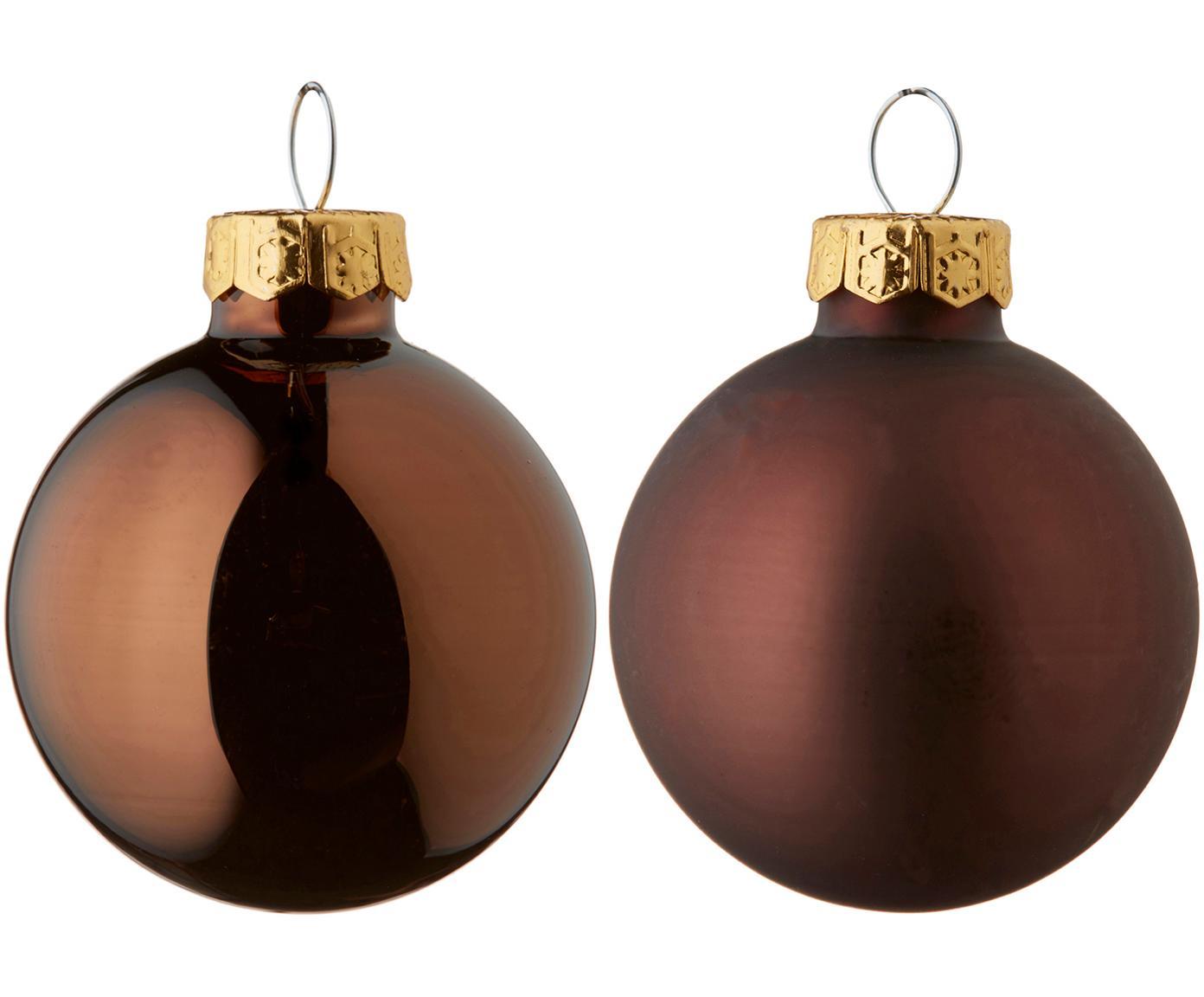 Weihnachtskugel-Set Evergreen Ø8cm,6-tlg., Dunkelbraun, Ø 8 cm