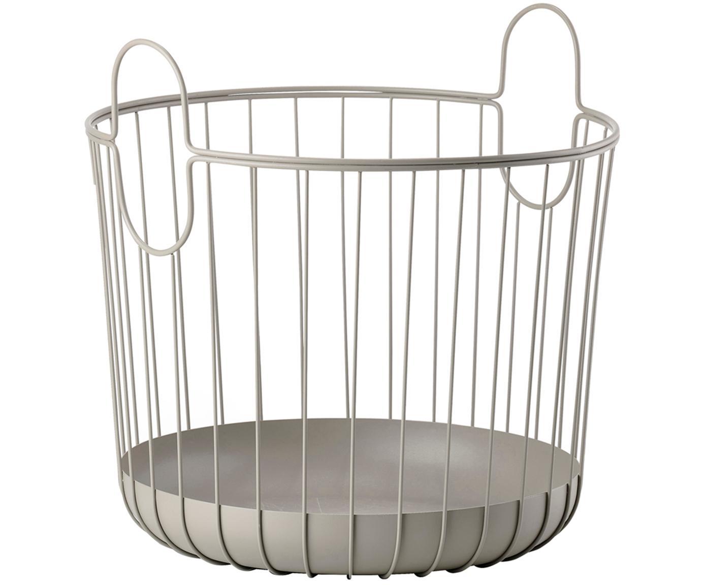 Cesta Ina, Metal, Marrón, Ø 30 x Al 31 cm