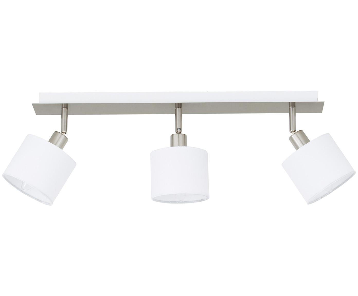 Lampa sufitowa Casper, Odcienie srebrnego, biały, S 56 x W 7 cm