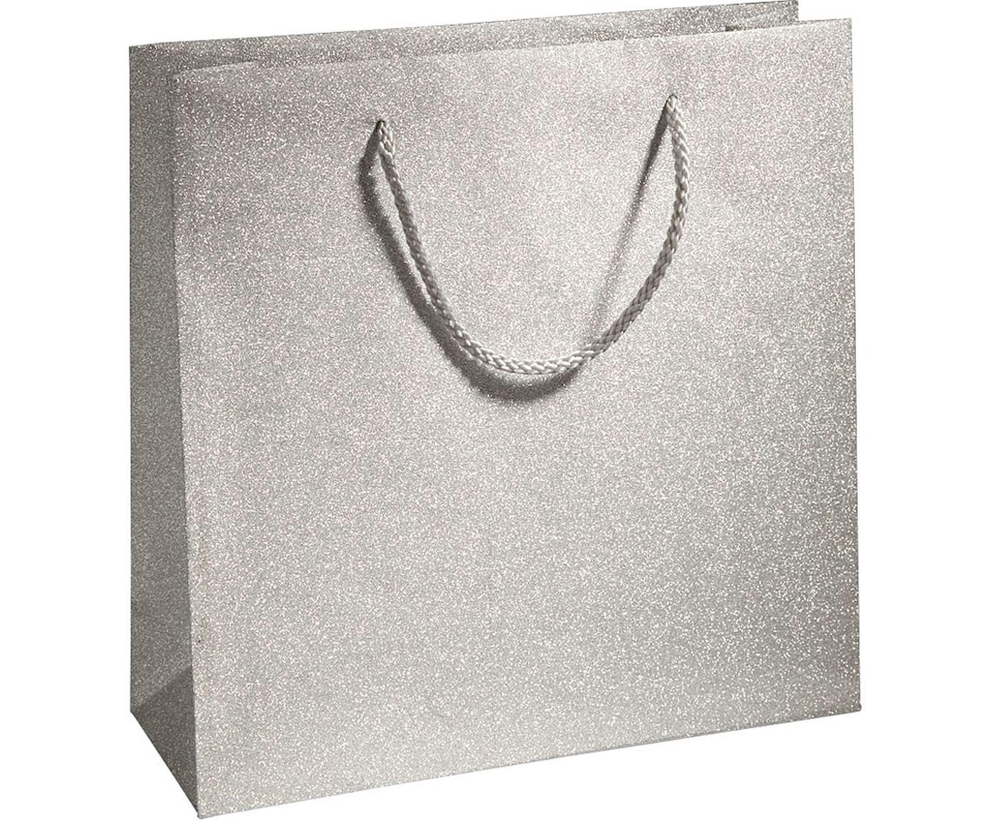 Geschenktaschen Sublime, 3 Stück, Polypropylen, Silberfarben, 28 x 28 cm