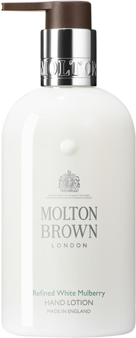 Handcrème Molton (moerbei en tijm), Houder: recyclebare kunststof, Wit, Ø 6 x H 15 cm