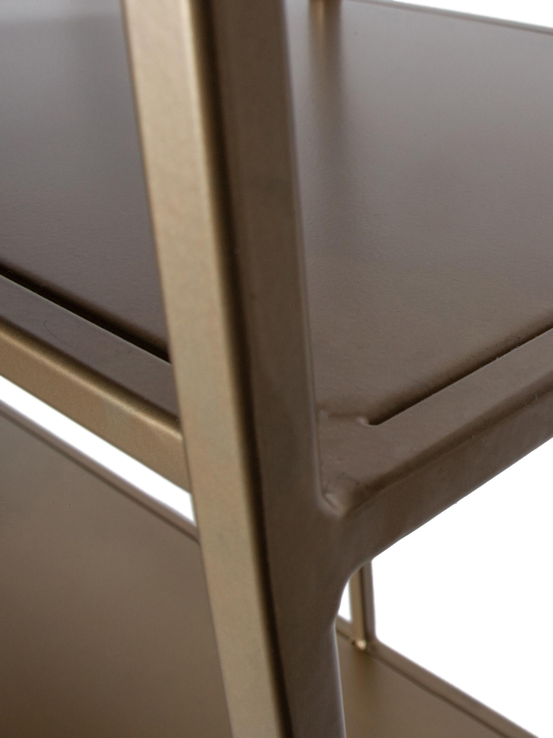 Wandrek Valued met antieke afwerking, Gelakt staal, Messingkleurig, 90 x 196 cm