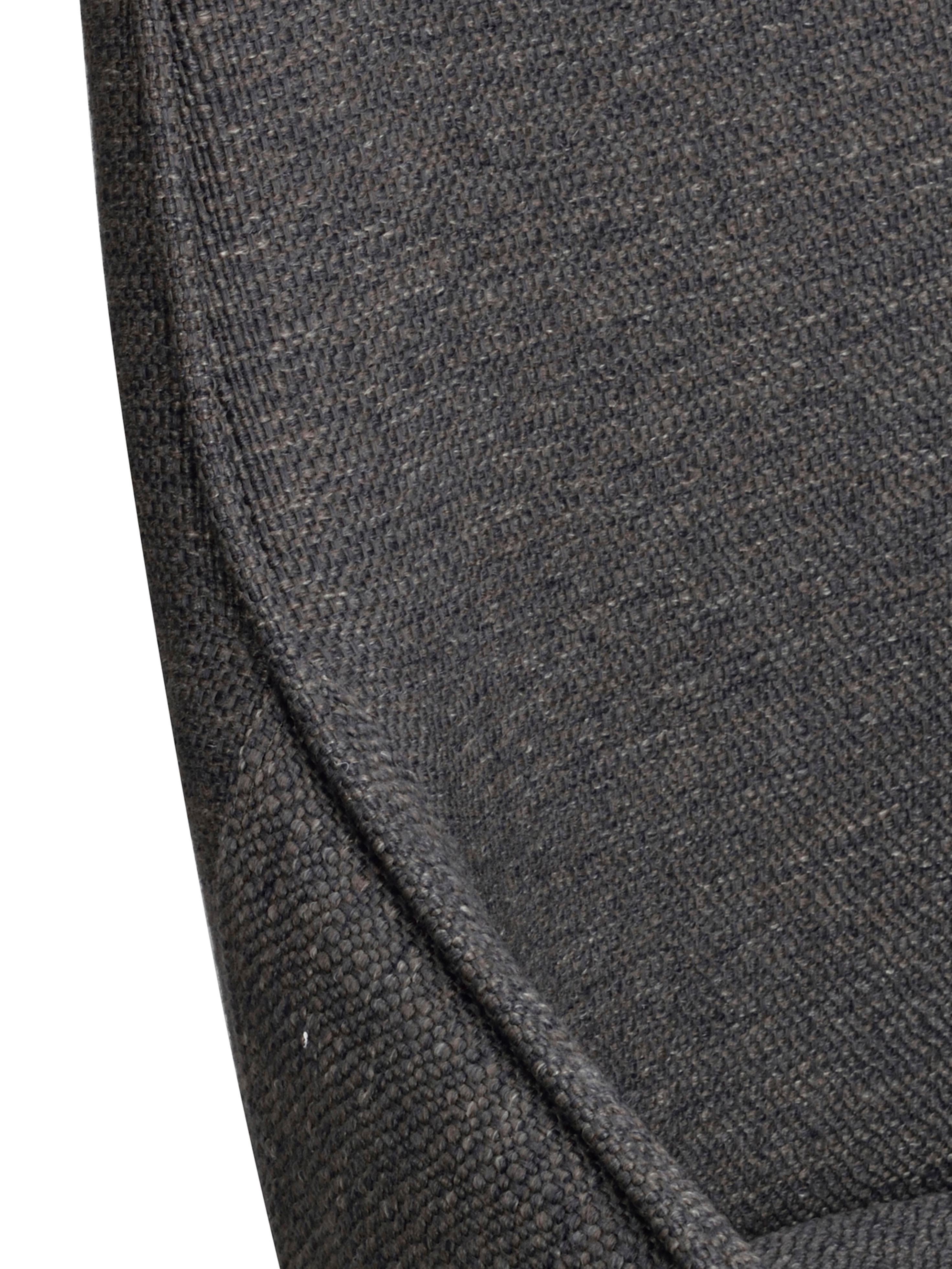 Gepolsteter Drehstuhl Alison, Bezug: Polyester 50.000 Scheuert, Beine: Metall, pulverbeschichtet, Webstoff Dunkelgrau, B 51 x T 57 cm