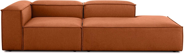 Modulaire chaise longue Lennon, Bekleding: polyester, Frame: massief grenenhout, multi, Poten: kunststof, Terracottarood, B 269 x D 119 cm