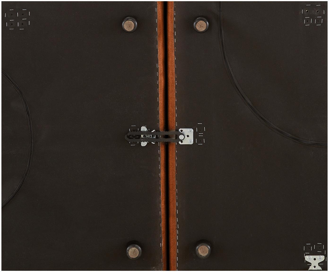 Szezlong modułowy Lennon, Tapicerka: poliester 35 000 cykli w , Stelaż: lite drewno sosnowe, skle, Nogi: tworzywo sztuczne, Terakota, S 269 x G 119 cm