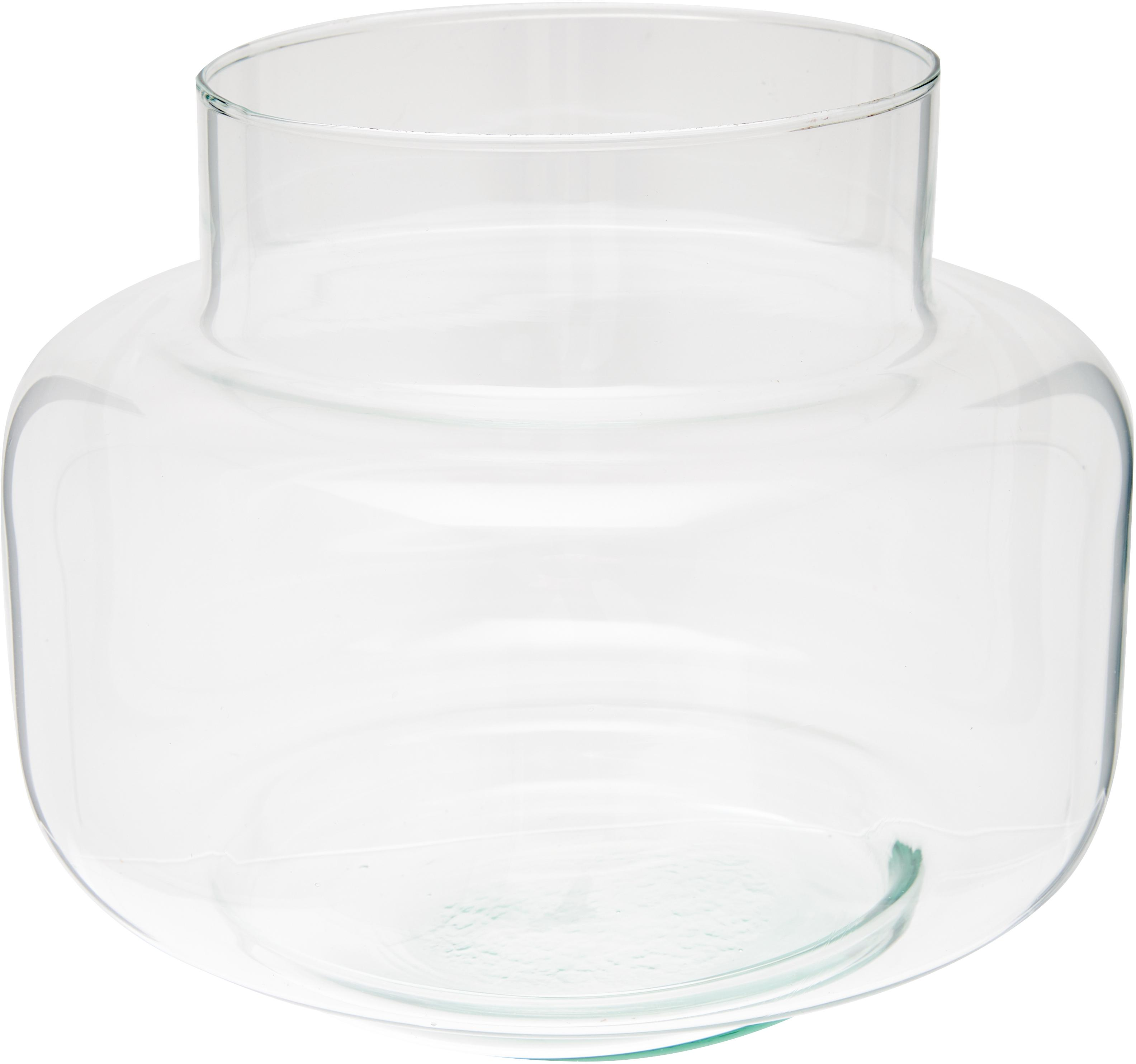 Vaso in vetro riciclato Dalia, Vetro riciclato, Trasparente, Ø 22 x Alt. 18 cm