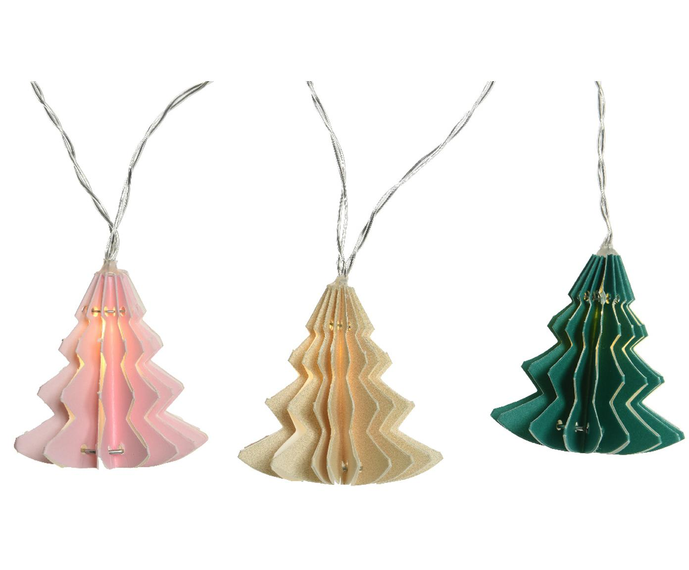 LED Lichterkette Trees, Rosa, Cremefarben, Grün, L 220 cm