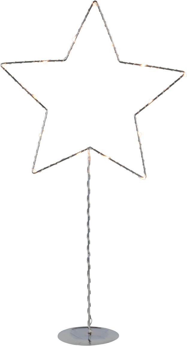 Lámpara decorativa LED a pilas Sparkling, Lámpara: metal, Cable: plástico, Plateado, An 31 x Al 60 cm