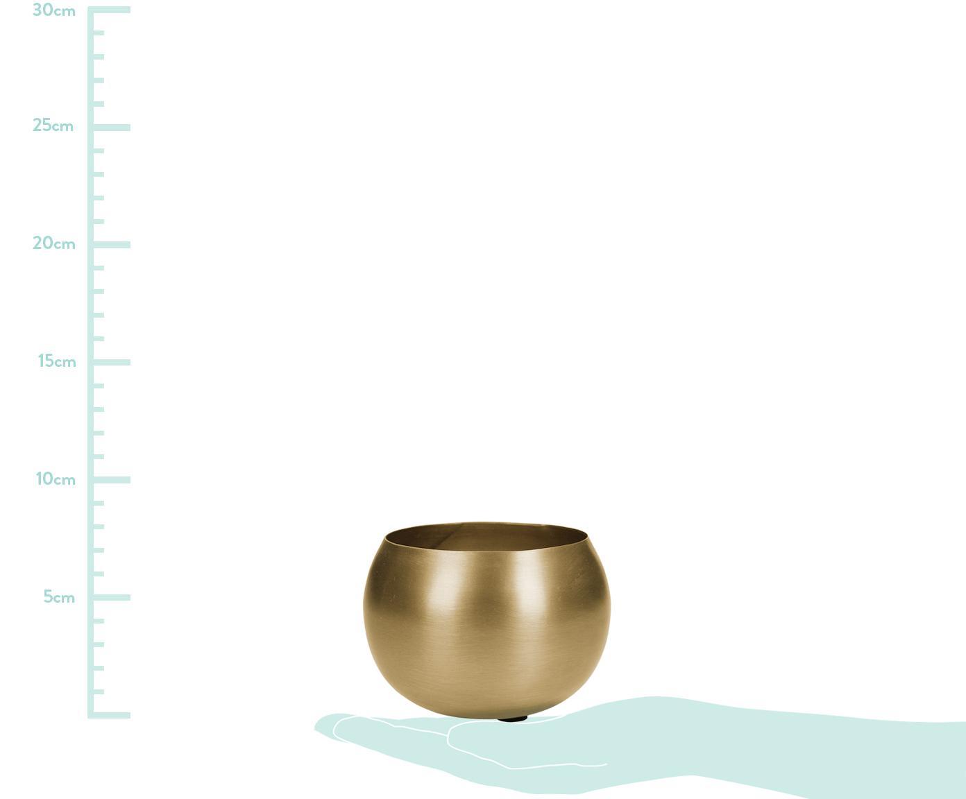 Portavaso Pat, Metallo rivestito, Ottonato, Ø 10 x Alt. 7 cm