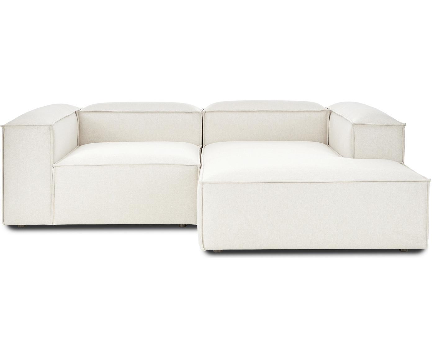 Sofa modułowa narożna Lennon, Tapicerka: poliester 35 000 cykli w , Stelaż: lite drewno sosnowe, skle, Nogi: tworzywo sztuczne, Beżowy, S 238 x G 180 cm
