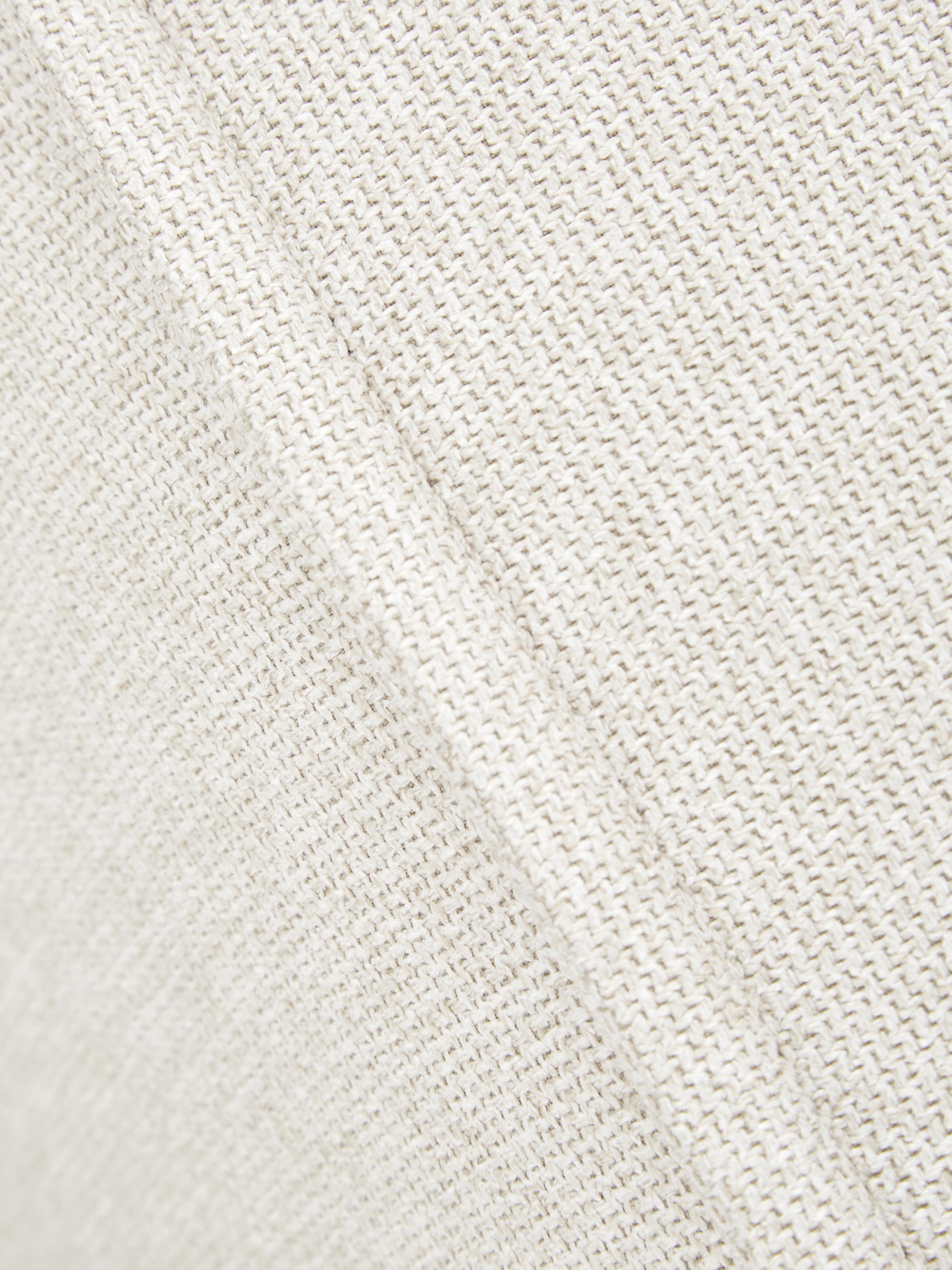Modulaire hoekbank Lennon, Bekleding: polyester, Frame: massief grenenhout, multi, Poten: kunststof, Geweven stof beige, B 238 x D 180 cm