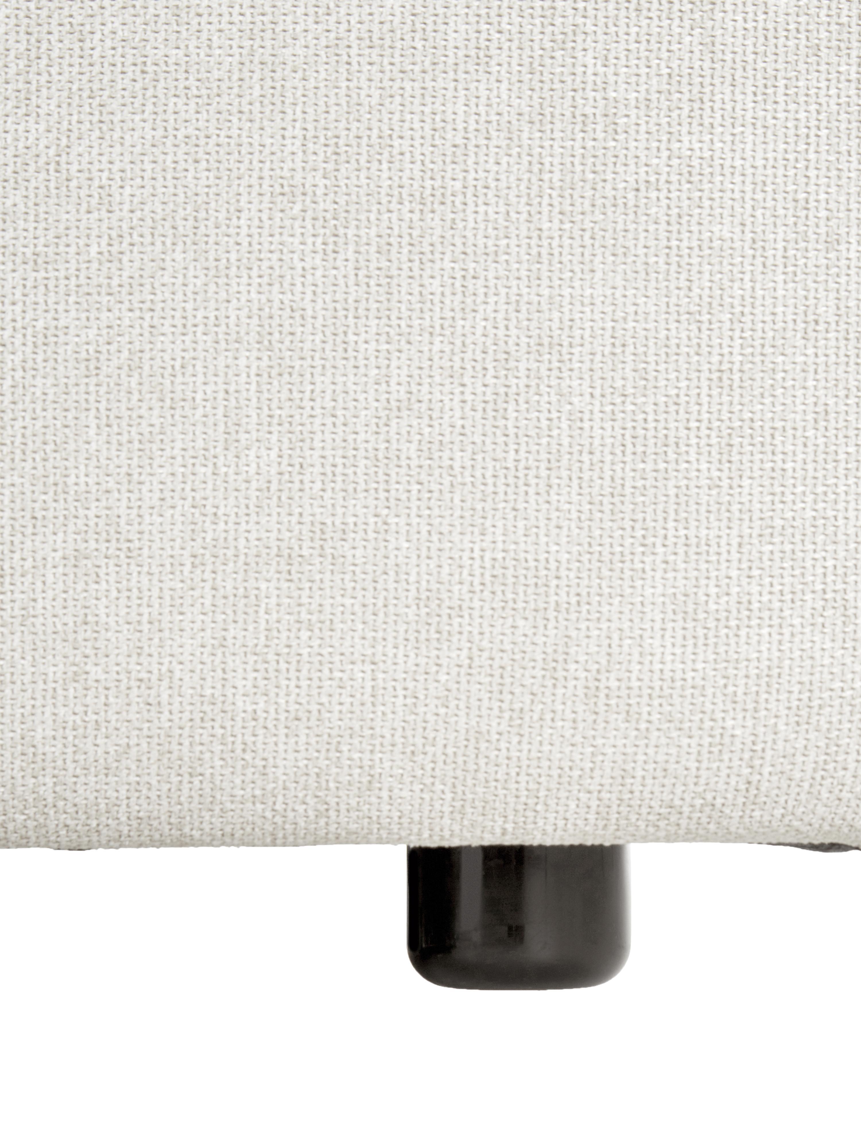 Divano angolare componibile in tessuto beige Lennon, Rivestimento: poliestere 35.000 cicli d, Struttura: pino massiccio, compensat, Piedini: materiale sintetico, Tessuto beige, Larg. 238 x Prof. 180 cm