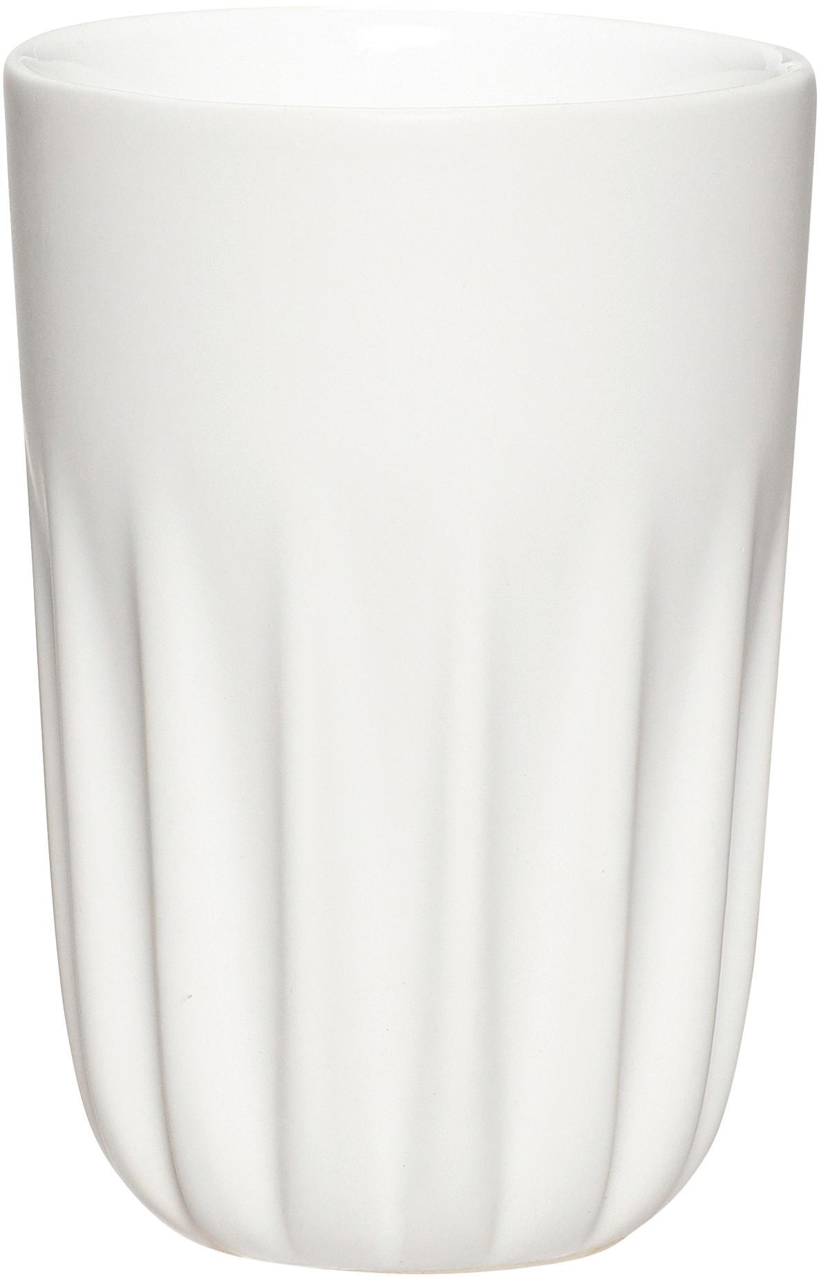 Keramik-Becher Erlang, 3er-Set, Keramik, Weiß, Schwarz, Grau, Ø 8 x H 12 cm