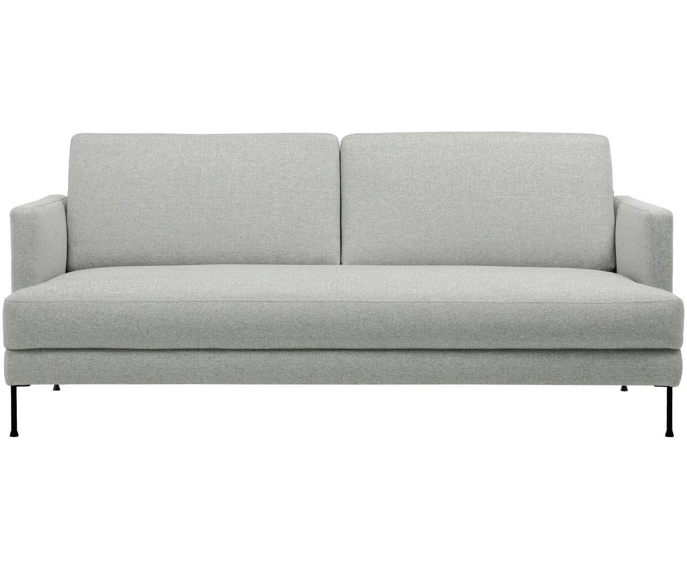 Bank Fluente (3-zits), Bekleding: polyester, Frame: massief grenenhout, Poten: gelakt metaal, Lichtgrijs, 197 x 85 cm