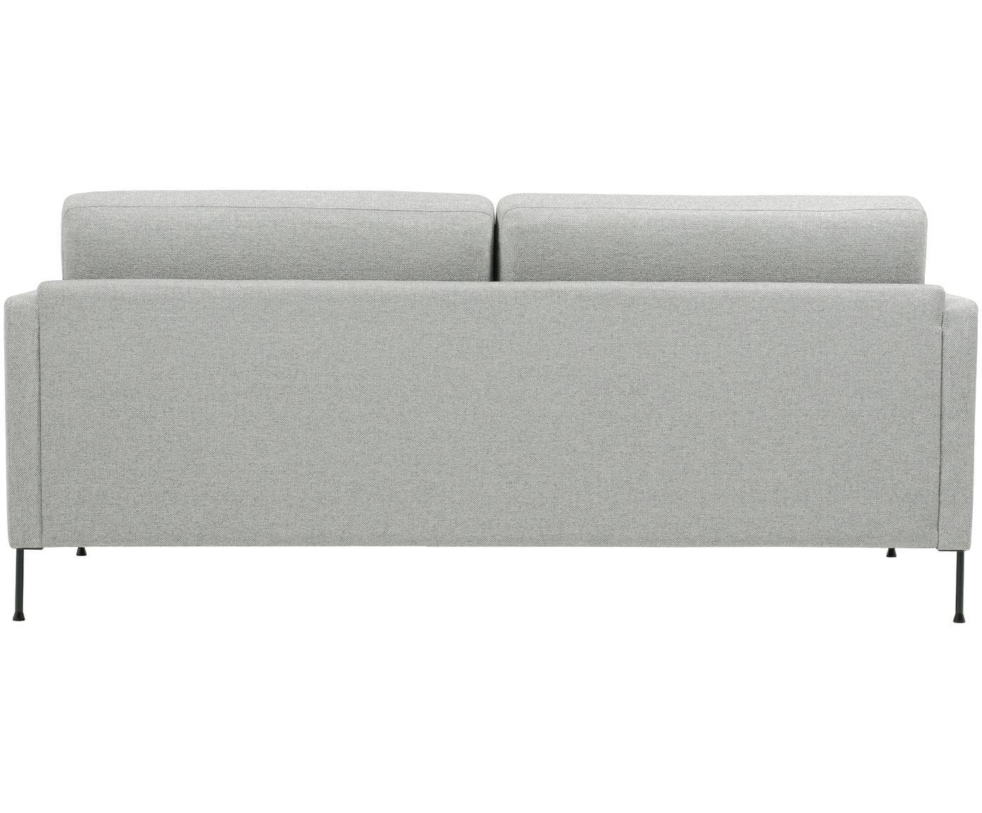 Sofa Fluente (3-osobowa), Tapicerka: poliester Tkanina o wysok, Stelaż: lite drewno sosnowe, Nogi: metal lakierowany, Jasny szary, S 197 x W 85 cm