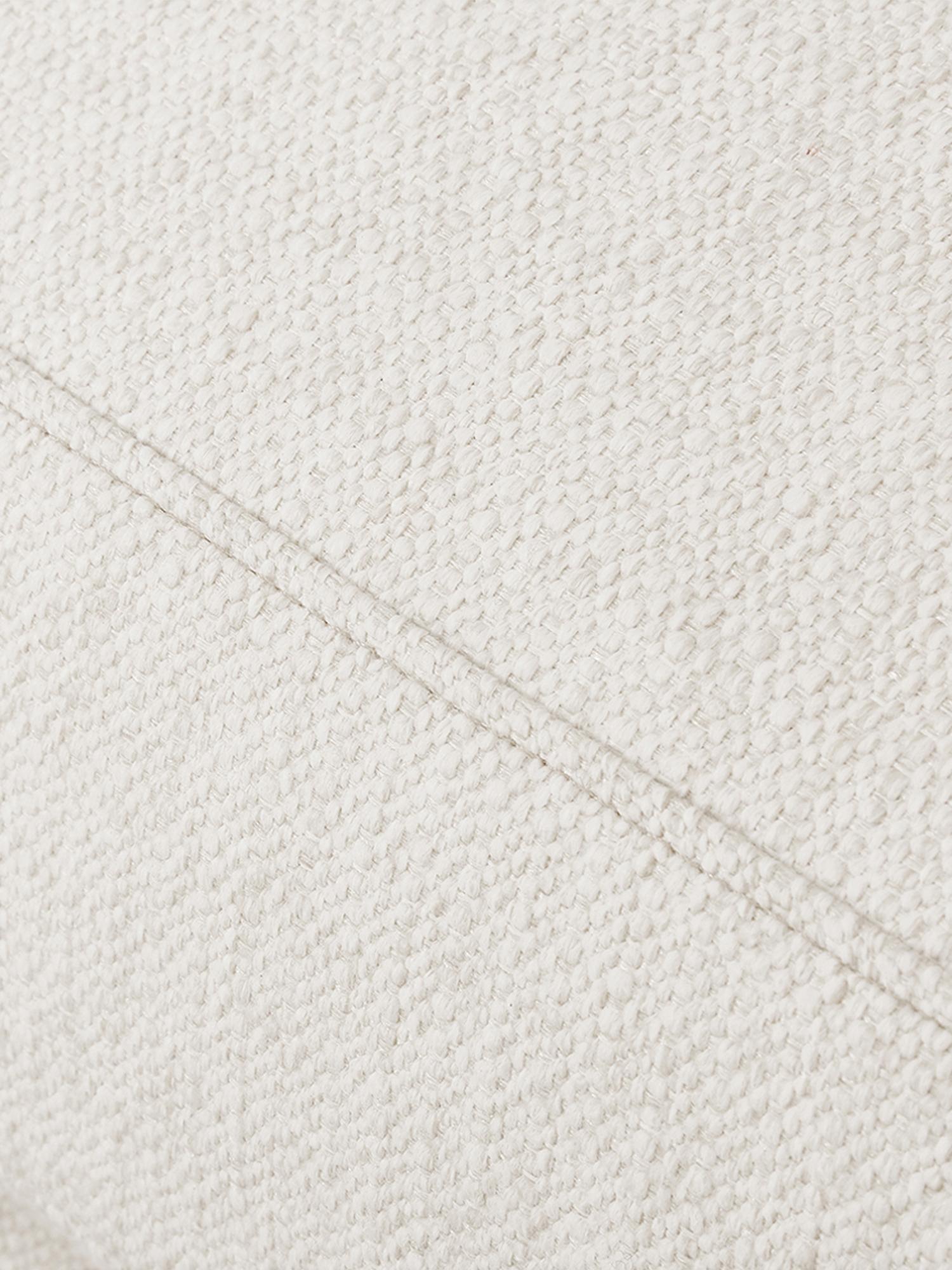 Bank Tribeca (3-zits), Bekleding: polyester De bekleding is, Frame: massief grenenhout, Poten: massief gelakt beukenhout, Geweven stof beige, B 228 x D 104 cm