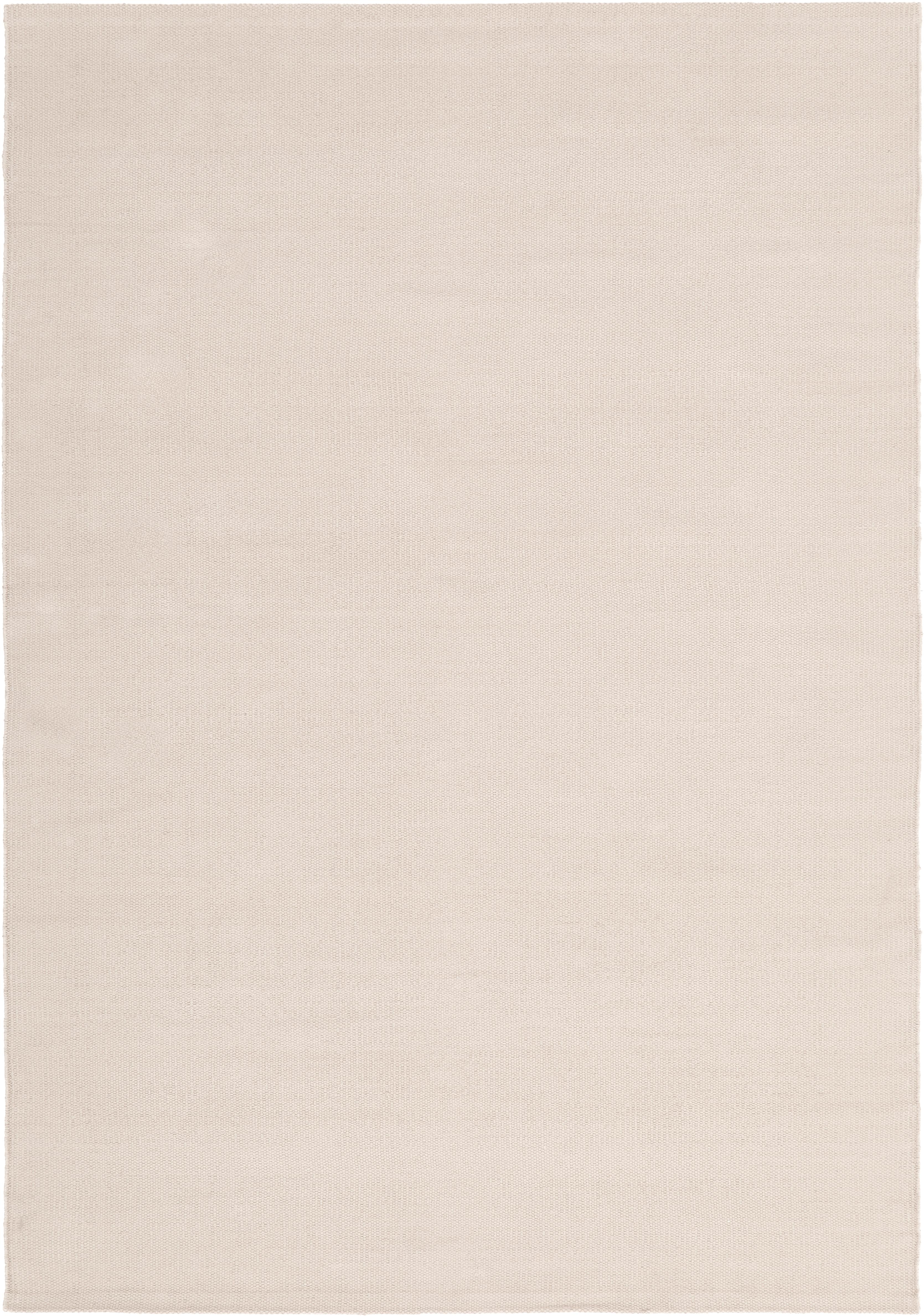 Tappeto in cotone tessuto a mano Agneta, Cotone, Taupe, Larg. 160 x Lung. 230 cm