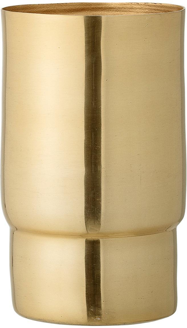 Vase Emmy aus Aluminium, Aluminium, Goldfarben, Ø 10 x H 17 cm