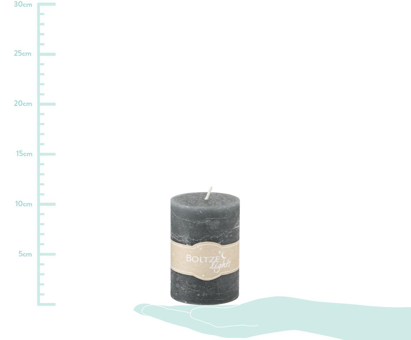 Komplet świec Birara, 3 elem., Odcienie szarego, Ø 7 x W 10 cm